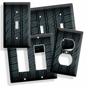 Sports Car Truck Rubber Tire Light Switch Cover Wall Plate