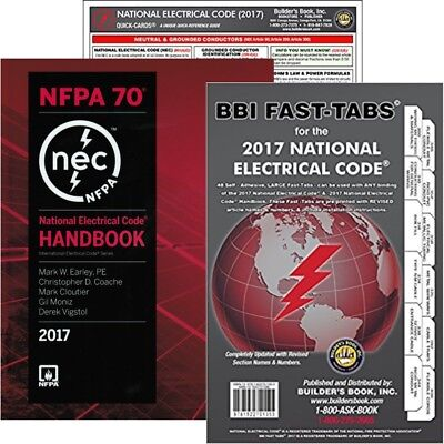 NFPA 70: National Electrical Code (NEC) Handbook, Set (HB-FT-QC), 2017 Edition
