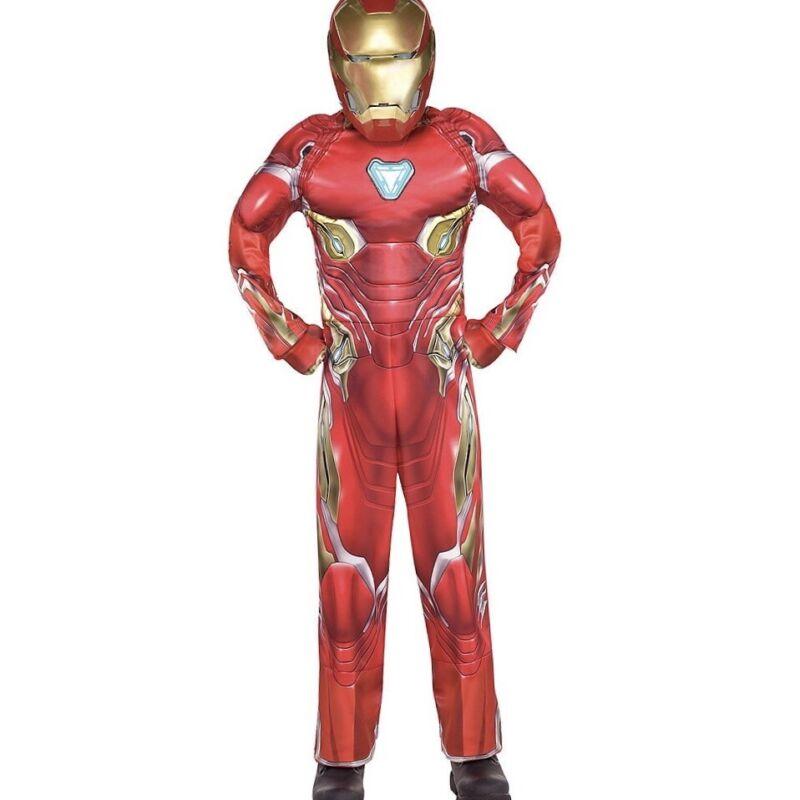 Marvel Avengers Infinity Wars Iron Man Costume Kids Size 8-10 M Light up Mask