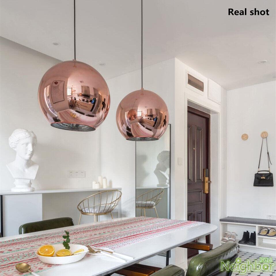 Hanging Light Up Mirror: Tom Dixon Copper Mirror Glass Ball Pendant Light Hanging