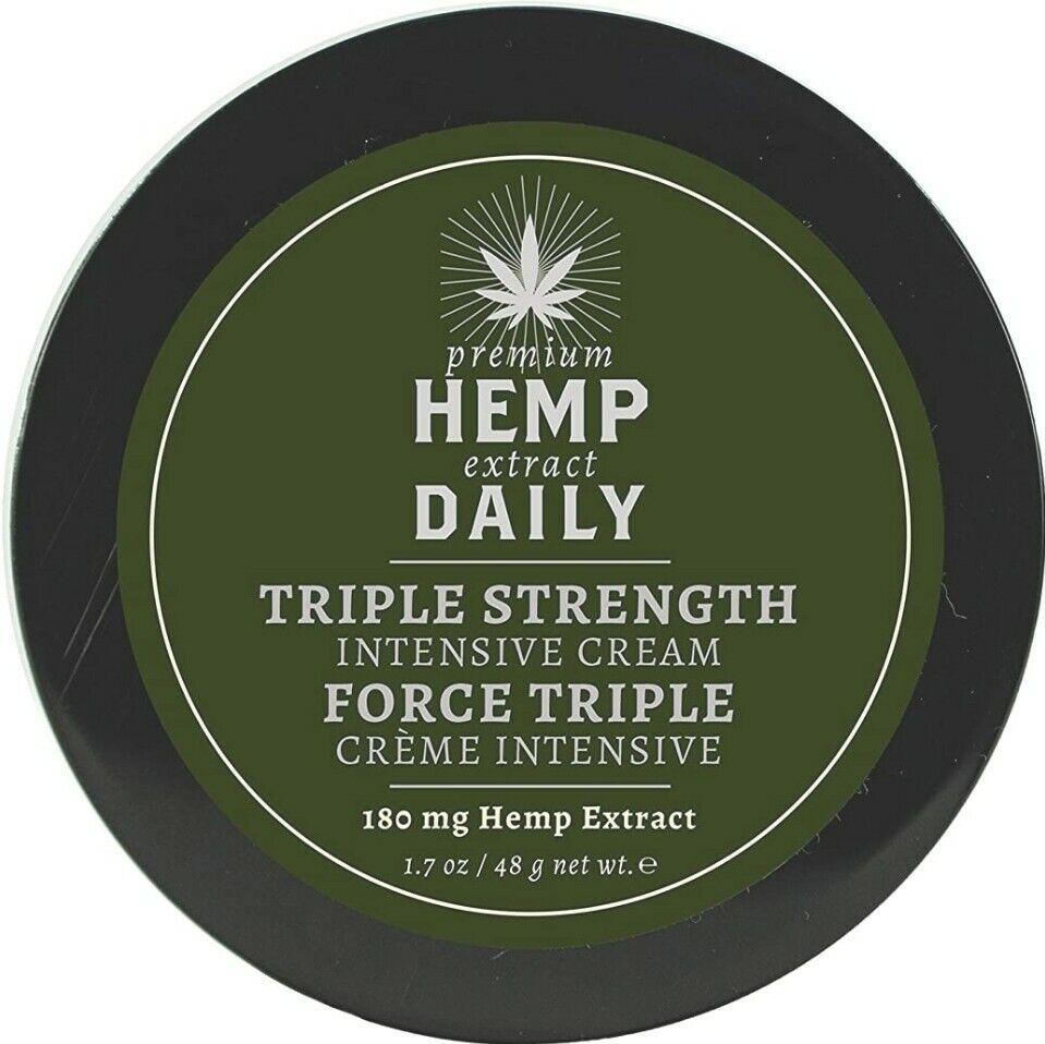 Hemp Daily Intensive Cream Triple Strength w/ Essential Oils 1.7oz NEW