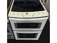 a026 white zanussi 60cm ceramic electric cooker comes with warranty can be delivered or collected