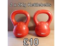 2 x 2 Kg Kettlebells - £10 for the pair