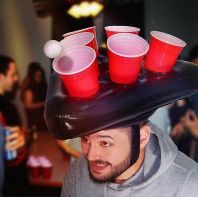Inflatable Beer Pong Hat Ring Toss Game for Adult Swimming Pool Beach Party - Adult Ring Toss