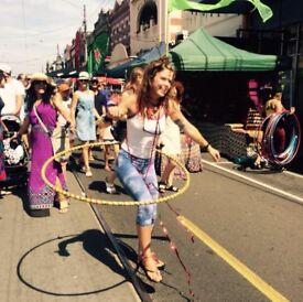 Hula hoop classes!! For fitness, fun, circus skills, pleasure
