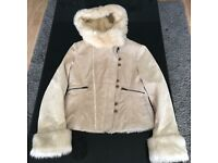 Next suede/fur jacket faux size 12