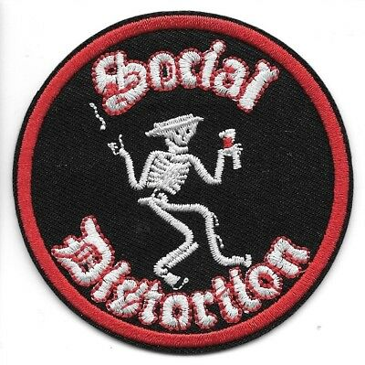 Social Distortion Embroidered Patch Iron-On Sew-On fast US shipping