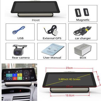 "10"" IPS 4G ADAS Android 5.1GPS FHD Car Dashboard Recorder BT WIFI FM Transmitter"