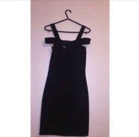 Miss selfridge black off the shoulder dress