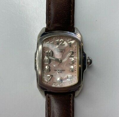 E Activa 495494 Swiss WR30M Pink Mother Pearl Leather Working
