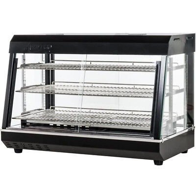 36 Countertop 3 Shelf Heated Display Warmer Sliding Door Self Serve Food Pizza