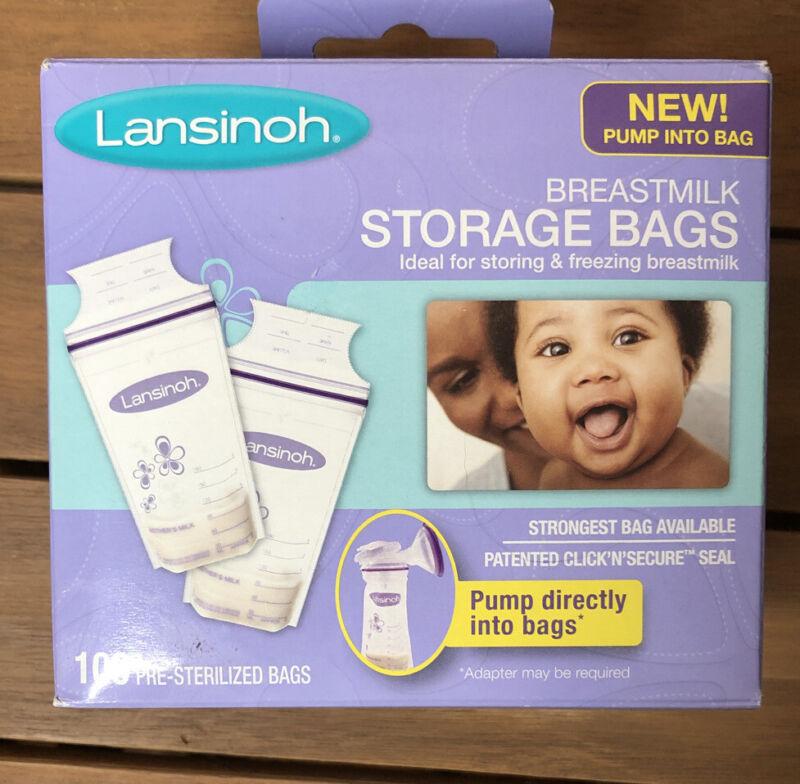 Lansinoh Breastmilk Storage Bags For Storing Or Freezing Pumped Milk 100 Count