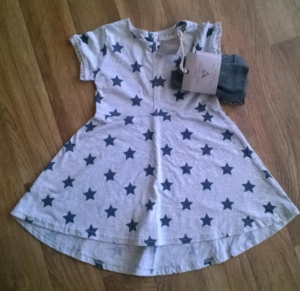 NEW Next Grey Dress With Footless Tights. 2 3yrsin York, North YorkshireGumtree - New with tags. Next grey dress with stars on it. Comes with a pair of footless tights. Size 2 3 years. £5. Collection from Acomb, York. From a smoke free home