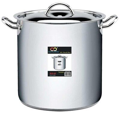 CONCORD 18/10 Stainless Steel Stockpot Tri-Ply Bottom Heavy Duty Commercial Gr