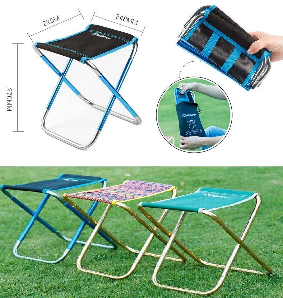 Details About Folding Chairs Outdoor Mini Portable Camping Fishing Picnic  Small Stool Seat US