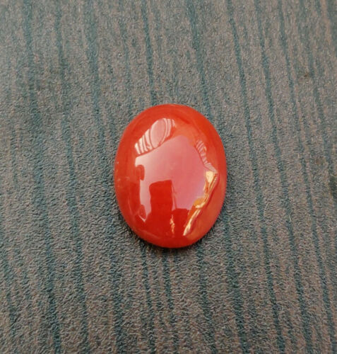 AA+ Natural Italian Red Coral Loose Oval Shape Cabochon