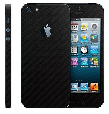 Carbon Fibre Full Body Fiber Slim Protector Sticker Skin for iPhone 5 5S SE
