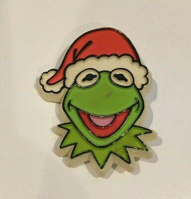 1979 Hallmark Kermit the Frog Santa Cap Pin Muppets Christmas Sesame Street
