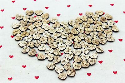 Wooden Hearts Love Wood Confetti Rustic Wedding Party Table Decoration DIY Craft - Heart Confetti