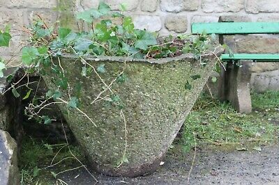 Pair 3 Foot Wide Urns Planters Garden Tubs Circa 1960s Large Pots Reclaimed