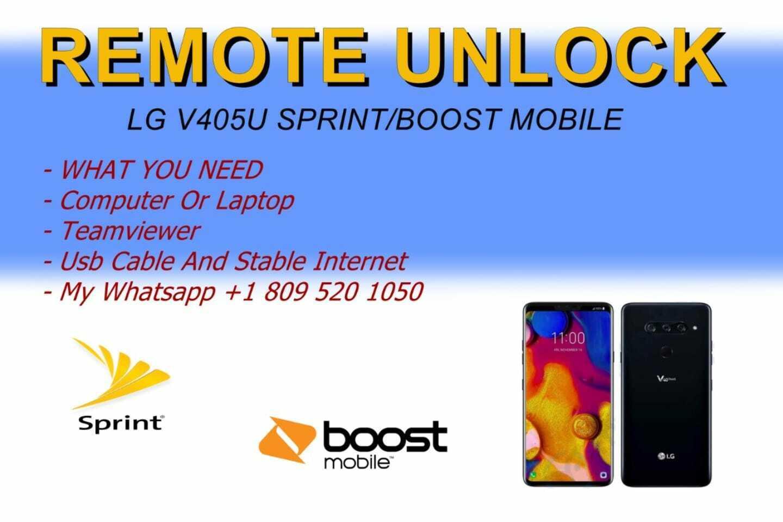 Remote Unlock LG V40 SPRINT/BOOST MOBILE  - $28.00
