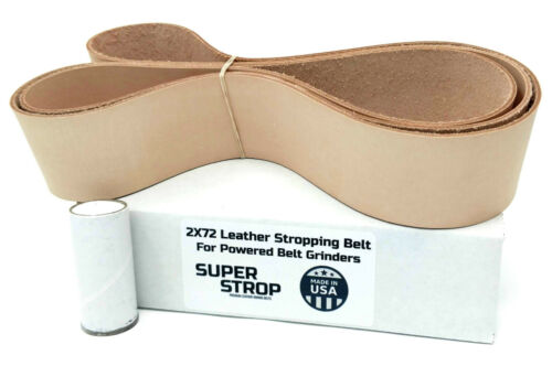 2X72 in. Leather Honing Belt SUPER STROP fits 2X72 Belt Grinder Razor Sharp Edge