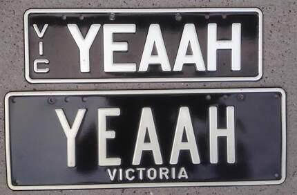 'YEAAH' Personalised Plates Vic