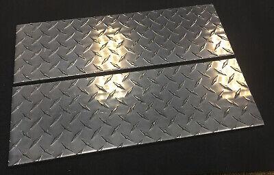 2 Pieces - 14 5052 Aluminum Diamond Plate Sheet 0.25 X 6 X 18.0625 Length