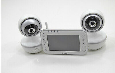"""VTech - Video Baby Monitor with 2 Cameras and 4.3"""" Screen - VM4261-2 White"""