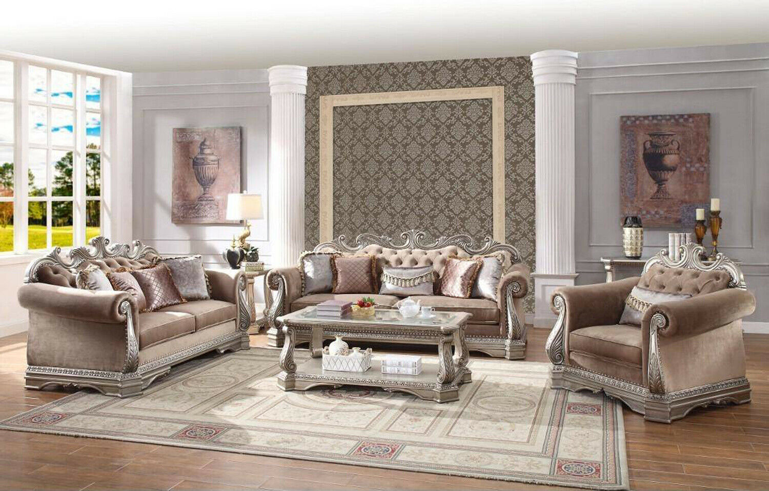 Astonishing Details About Opulent Traditional Ornate Sofa Love Seat Chair 3 Piece Formal Living Room Set Machost Co Dining Chair Design Ideas Machostcouk