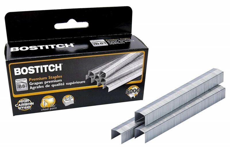 "Bostitch B8 PowerCrown Premium Staples 5000/Box 3/8"" 9mm Chisel Point"