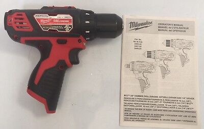 New Milwaukee 2407 20 M12 12V 12 Volt Led Cordless Lithium Ion 3 8  Drill Driver