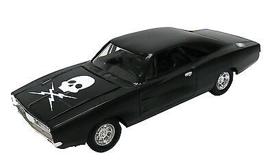 Johnny Lightning 1:24 -DEATH PROOF MOVE- Black 1969 Dodge Charger *8in DIECAST*