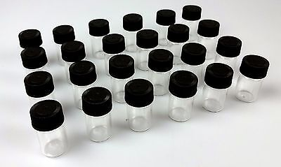 24pc 3 Ml Leak-proof Clear Glass Vials Black Caps 1 14x916 Gold Jewelry Beads