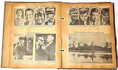 WILL ROGERS & WILEY POST CRASH Historical Memorabilia Scrapbook - Early Aviation
