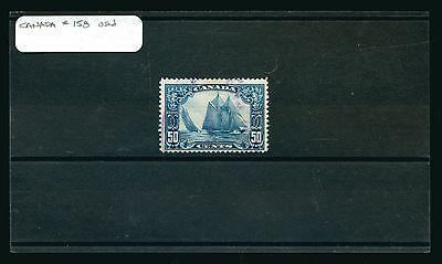Canada Scott # 158 Used 50c Cent Dark Blue Bluenose Stamp #88956