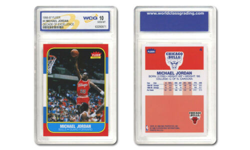 1996-97 MICHAEL JORDAN FLEER DECADE OF EXCELLENCE ROOKIE CARD #4 - GRADED GEM 10