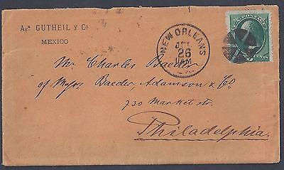 US 1876 Kostüm Stempel Neu Orleans Sich Philadelphia Brief - Kostüm Philadelphia
