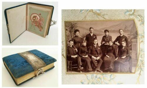 19C Velvet Picture Album Loaded wWonderful Pictures