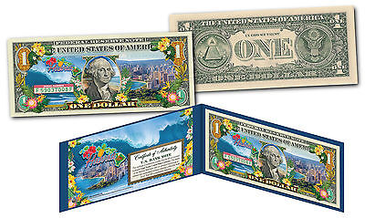 HAWAII State $1 Bill OFFICIAL Legal Tender U.S. One-Dollar Currency * Colorized