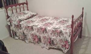 Single Colonial style  bed with innerspring matress Robina Gold Coast South Preview