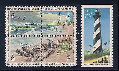 CAPE HATTERAS SEASHORE & LIGHTHOUSE NC - U.S. POSTAGE STAMPS - MINT CONDITION