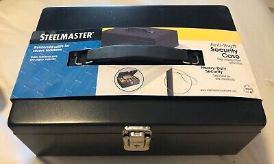 New Steelmaster Metal Cash Box Heavy Duty Reinforced Cable 2-keys Money Tray
