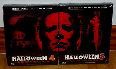 Halloween 4 Y 5 Ediciones Special Blu-ray+DVD New Sealed (Unopened) R2 (Halloween 2 Blu Ray Special Edition)