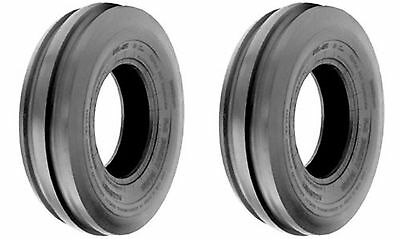 Two 7.5lx15 7.5l-15 F-2 Triple Rib Front Farm Tractor Tires 6ply Rated