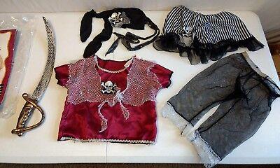 Caribbean Pirate Queen Girl Dress Up Halloween Toddler Size 2-4 Child Costume - Caribbean Queen Halloween Costume