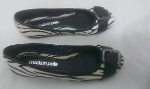 Moda in Pelle - black & white pony hair/leather ballet flats Kingsgrove Canterbury Area Preview