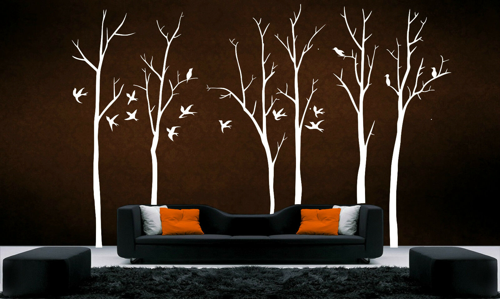 Home Decoration - Stunning Tree Branch II Wall Art Decal Removable Vinyl Stickers Mural Home Decor