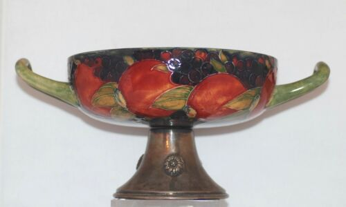 William Moorcroft Pedestal Two-Handled Large Vase  RARE!