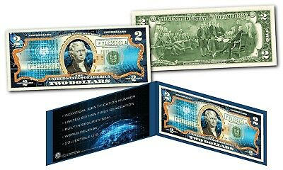 Cryptocurrency Block Chain Physical Commemorative Genuine Tender U.S. $2 Bill